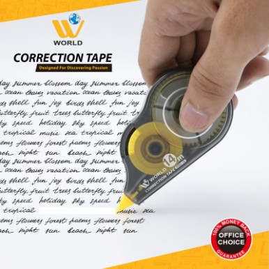 W World Correction Tape - Strong covering power-14m