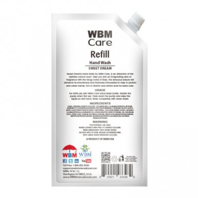 WBM Care  Hand Wash Vitamin E and Amino Acid Refill - 400 ML