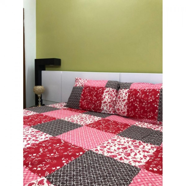 Double Printed Bed Sheet Set - 3 Piece - Easy Care Collection