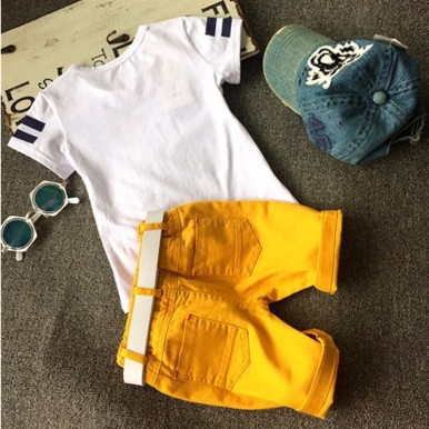 Tshirt and Shorts boys dress available in different sizes