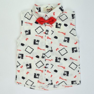 Printed Bow Shirt with shorts - Baby boy dress available for 1-6 years