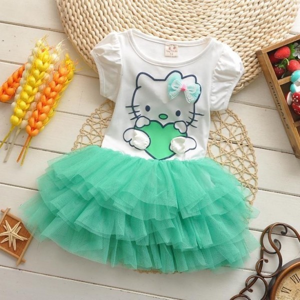 Girl Children Summer Dress Party Baby Girls Dresses For 9 month-4 Years