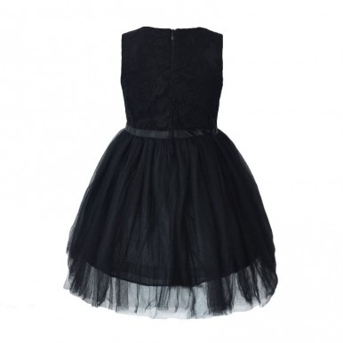 Black Net Frock for Girls - baby dress for 2-7 years old