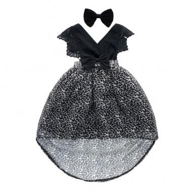 Black Cheeta print girls frock - baby dress 2018