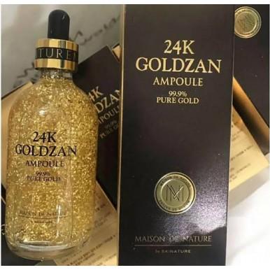 Goldzan 24k AMPOULE Pure Gold Serum - Pure Gold Face Essence