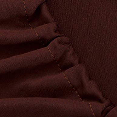 7 seater Fitted Sofa Cover (Standard Size) (Dark Brown)
