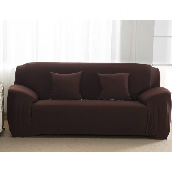 Shop 7 Seater Fitted Sofa Cover Standard Size Dark Brown Online In Pakistan By Knit That Fits