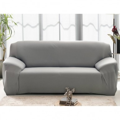 7 seater Fitted Sofa Cover Set (Standard Size in Grey Color)