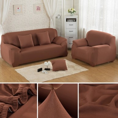 7 seater Fitted Sofa Cover (Standard Size) (Maroon)