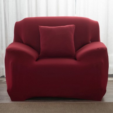 5 seater Fitted Sofa Cover Set (Standard Size in maroon color)