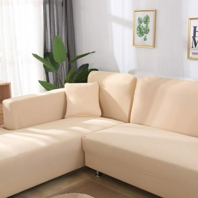 L-shape Sofa Fitted Cover 3-3 (Standard Size in Camel Color)
