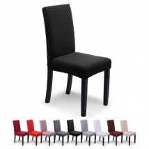 Pack of 6-Dining Chair Fitted Covers- Black