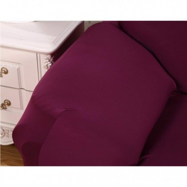 L-shape 3-3 seater Fitted Sofa Cover (Standard Size in magenta Color)