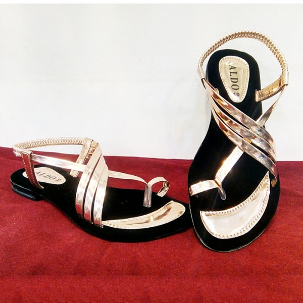 Golden Sandal Style Ladies Slippers