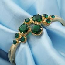 Austria Rhinestone and Zircon Exquisite Round Stones Bangle Bracelet
