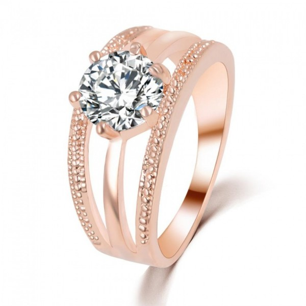 Austrian Crystals Silver Plated Ring for Her