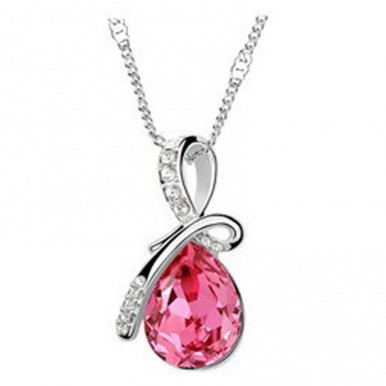 Austrian Crystal droplet Necklace Pendant