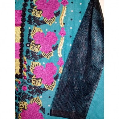 Lawn printed embrodered shirt