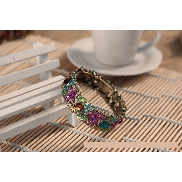 Vintage Flower Cuff Bracelet