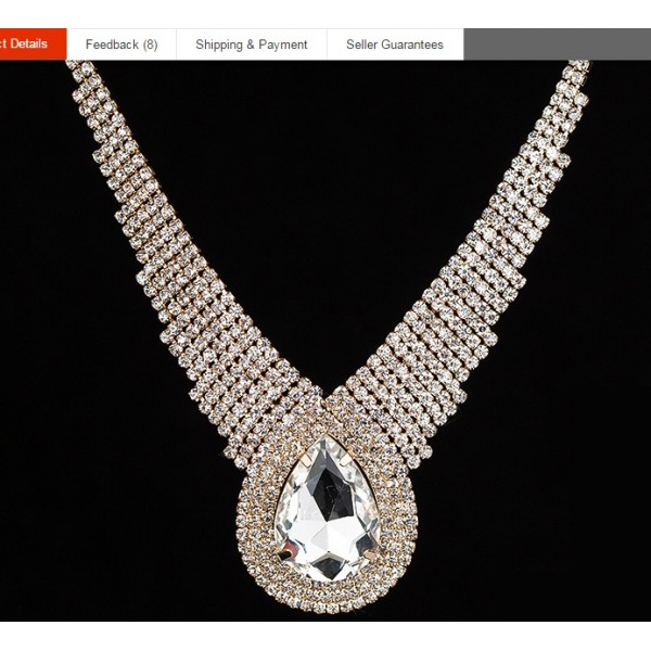 Large Drop Shiny Full Rhinestone Crystal Set For Her