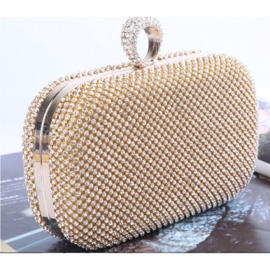 Hot Selling Cross-Border Party Evening Clutch handmade with Rhinestone bag