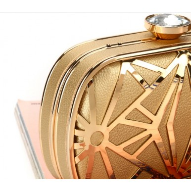High Quality Metal Hollow Crafted Wedding Party Clutch