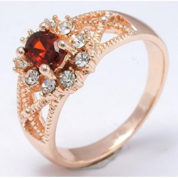 Classy Red Stone Ring For Her