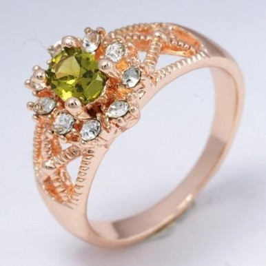Classy Green Stone Ring For Her