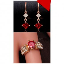 Best Deal of Pendant and Ring with red stone