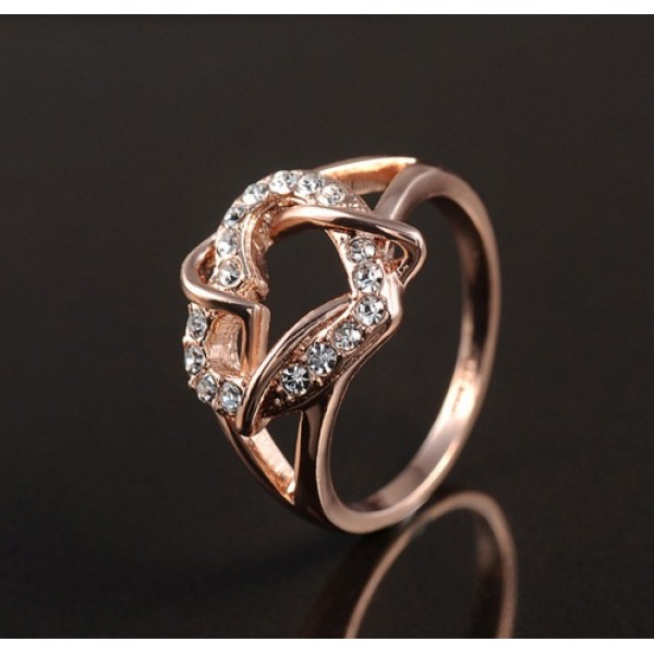 18K Gold Plated Heart Ring For Her