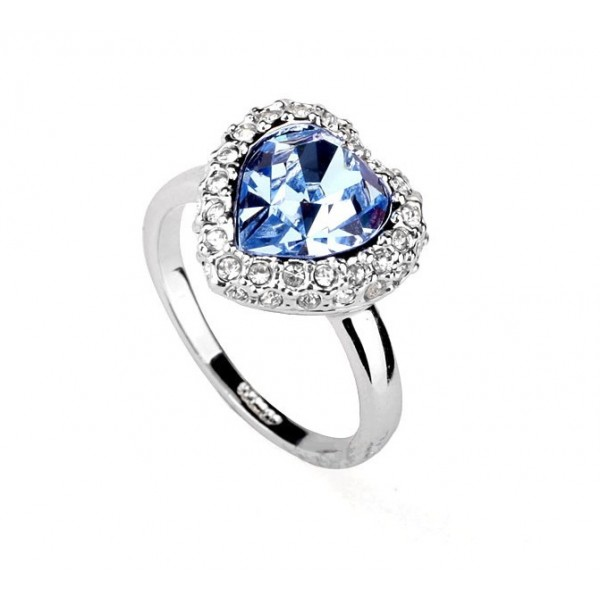 Heart Ring For Woman Made With Austrian Crystal Stellux For Her