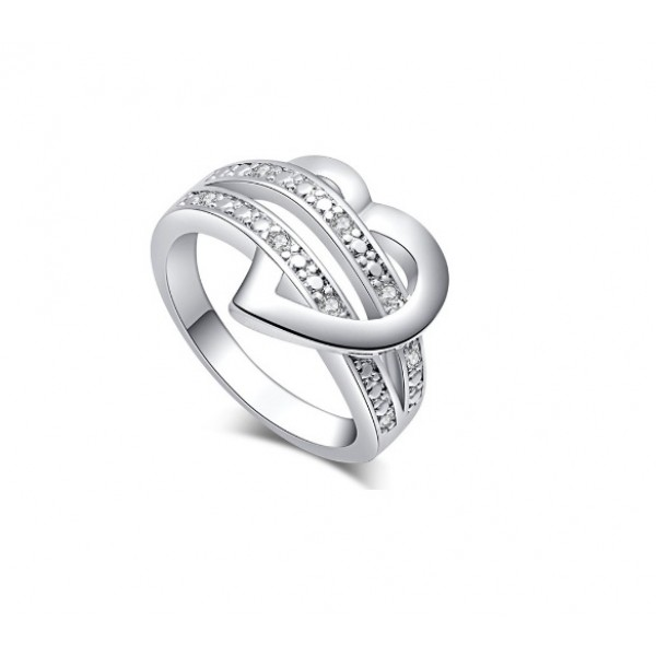 Silver Heart 925 Party Women Ring