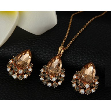 New Arrival Wedding - Party Austrian Crystal Jewelry Set For Her