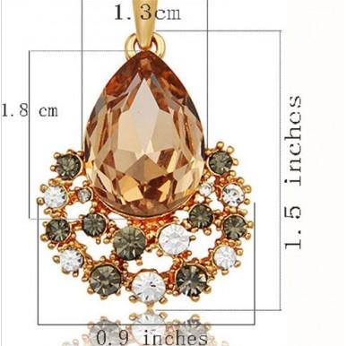 Nigeria jewelry set 18k gold austrian crystal for her
