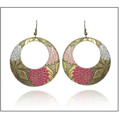 Vintage Drop Pink Flower Earrings For Her