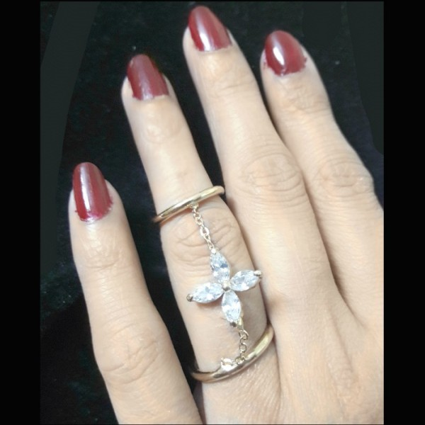 Gold Plated Zircon Ring for Her