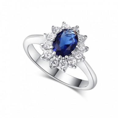 Italina Brand Princess Sapphire Jewellery Ring For Her