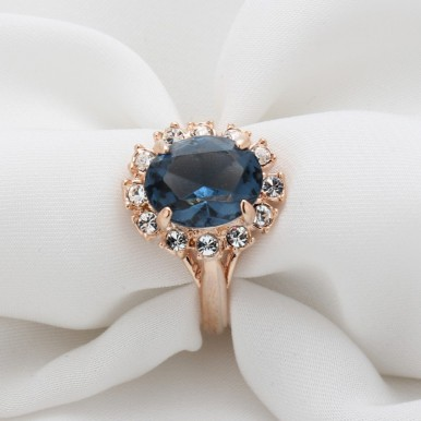 Italina Rigant Austria Crystal 18K Gold Plated Rings For Her