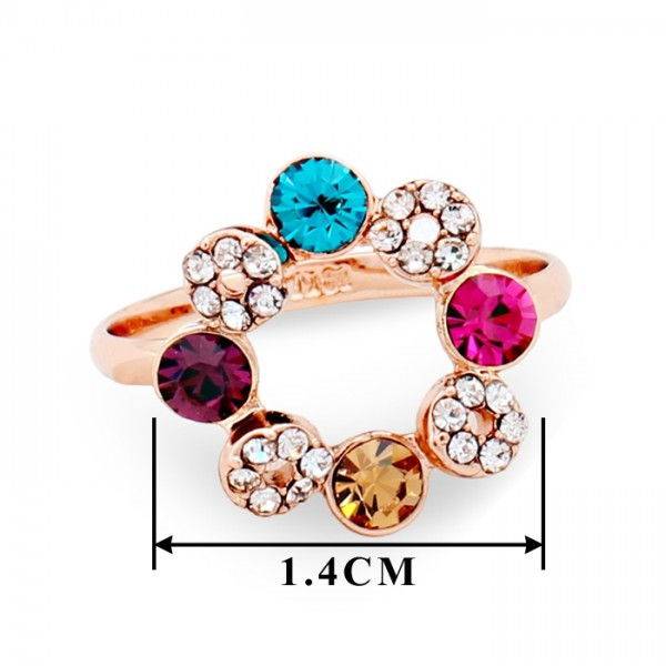 New 18K Rose Gold Plated Made with Genuine Austrian Crystals