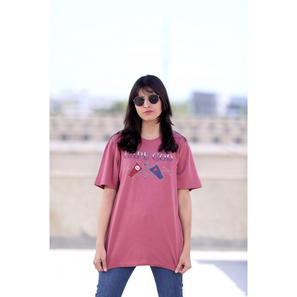 Licensed Cuffy's Unisex T-shirt In Pink Colour