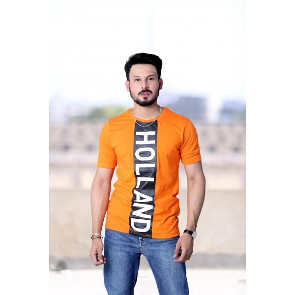 Licensed Fox Unisex T-shirt In Orange Color with Black Print
