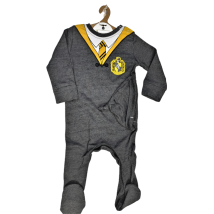 Licensed Harry Potter Kids Romper Baby Grow with Hat Hufflepuff