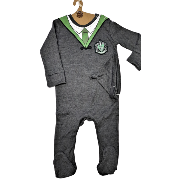 Licensed Harry Potter Kids Romper Baby Grow with Hat Slytherin