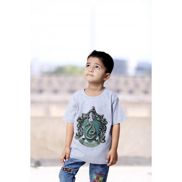 Licensed Kids Printed Harry Potter Slytherin T Shirt Sports Grey