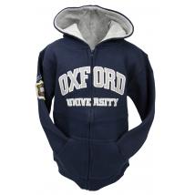Licensed Kids Zipped Oxford University Hooded Sweatshirt Navy