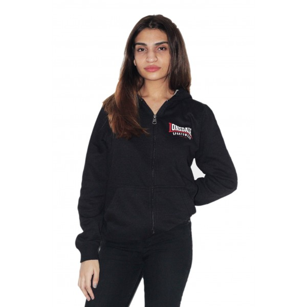 Licensed Unisex Lonsdale Zipped Hoodie Black Colour