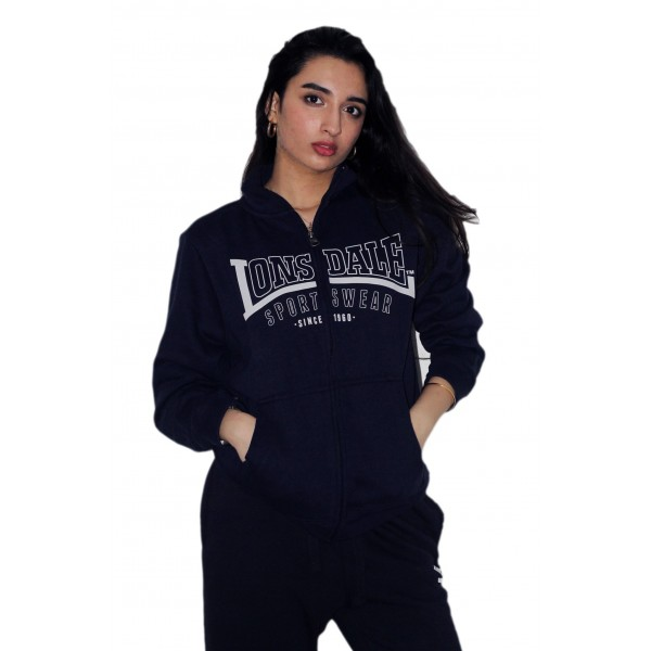 Licensed Unisex Lonsdale Zipped Jacket Available in 3 Colours Black Navy Grey