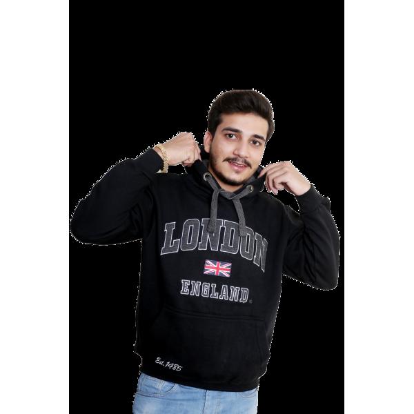 Unisex London England Hoodie Hooded Sweatshirt Black