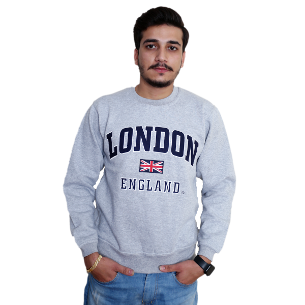 Unisex London England Sweatshirt Grey Navy