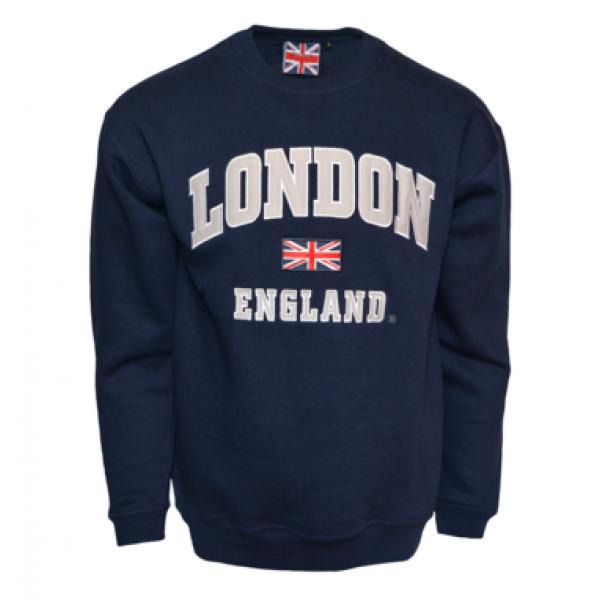 Unisex London England Sweatshirt Navy Grey